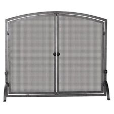 Uniflame SINGLE PANEL OLDE WORLD IRON SCREEN W/DOORS, LARGE S-1142 Screen  NEW