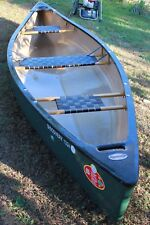 Old Town Discovery 133 Canoe with 1 1/5 Hp Evinrude boat motor and accessories