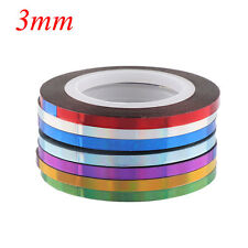 7 Rolls Holographic Nail Stripe Tapes Set Laser Adhesive Line DIY Decal Stickers 3mm
