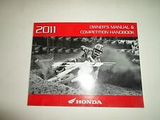2011 Honda CRF250R Owners Manual Competition Handbook FACTORY OEM BOOK 11 NEW