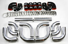 "Universal High Quality 2.5"" Polished Intercooler 12pc Piping Kit Aluminum Honda"
