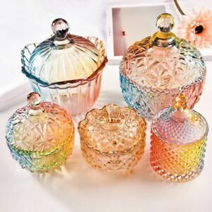 Nordic Vintage Crystal Storage Tank Creative Clear Glass Candy Tea Jar Snack Can