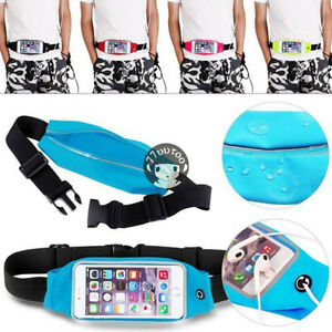 Sports Running Jogging Gym Zipper Belt Soft Bum Waist Bag Case Cover For iPhone