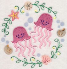 Jelly Fish Cute Stunning Bathroom Hand Towels Set Of 2 By Laura
