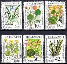 Flore - Fleurs Bulgarie (108) série complète de 6 timbres oblitérés