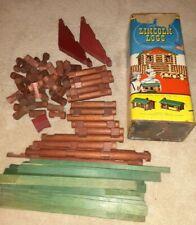 Vintage Lincoln Logs Original Set Metal Container Tub Free shipping $2 original