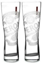 Set of 2 Peroni Nastro Azzurro ETCHED Pint Glasses 20oz Brand New Boxed