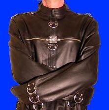 Lederjacke Zwangsjacke Bondage Jacke schwarz leather strait jacket black BDSM