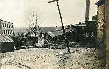 A View of the Flood Devastation, Brookville IN Indiana RPPC, Great Flood of 1913
