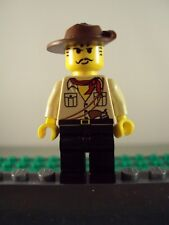 Lego Minifig ~ Johnny Thunder ~ Adventurers With Fedora Hat #defc