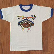 Vtg 80s Liquid Johnny's World's Largest Tailgate Party Ringer T Shirt S MKE WI