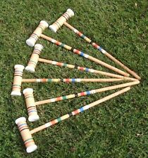 Vintage Forster Croquet Mallets - Set of 6 -  25 Inches - Very Good Condition!