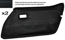 BLACK STITCH 2X FRONT FULL DOOR CARD LEATHER SKIN COVER FITS CORVETTE C3 78-82