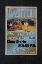 Led Zepplin tour poster Royal Albert Hall 1971