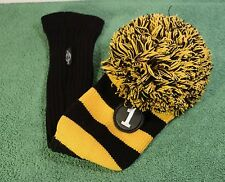 NEW IN PLASTIC Ray Cook Black/Gold Knit Driver Head Cover