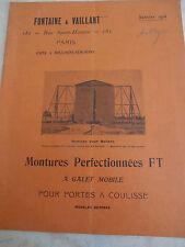 Catalogue de serrurerie 1915