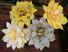 """Mexican Crepe Paper Flowers Set of 4  Bi-Color STAR We Make Special Orders"""""""