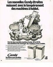 PUBLICITE  1975   CANDY    lave linge machine à laver à hublot