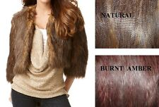 NEW INC womens 19003N899 STATUS 3/4 Sleeve  Faux Fur Cropped jacket S M L