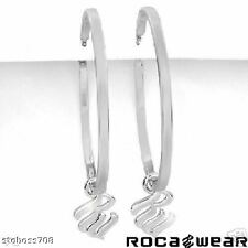 ROCA WEAR High Quality Earrings, 14K WHITE GOLD PLATED