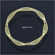 14kt Gold Over Sterling Silver Circle Link Connector For Pendant Earring #51807