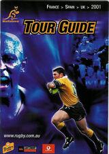 Australien Rugby Union guide 2001-Officiel Aru MEDIA GUIDE LIVRET DE RUGBY