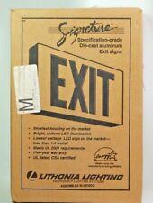 Lithonia Exit light, Black die cast LED emergency light, Red letters NIB