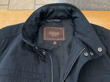 "Belstaff-style waterproof raincoat / jacket by ""Coach"" New York  Large Black 42"