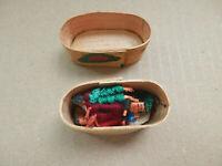 Vintage Tiny Guatemalan Worry Dolls Set of 6