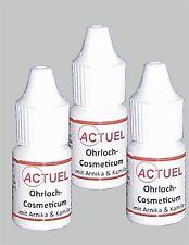 3x Actuel Ohrlochkosmetikum mit Arnika und Kamille 5ml zur Ohrlochpfle