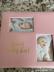 50 page Baby Memory Book Photo Album – Or Girl