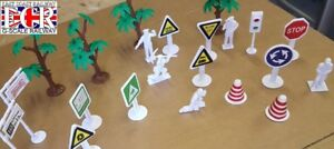 50 1/32 SCALE GARDEN RAILWAY TRAIN PEOPLE FIGURES RAIL WORKERS SIGNS TREES ETC