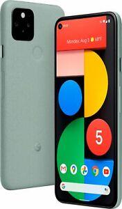 Google - Pixel 5 5G 128GB Unlocked Black and Sage w/ Accessories, Global Ship