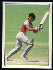 1984 Scanlens Cricket Sticker unused number 38 Larry Gomes