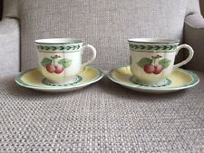 Villeroy & Boch French Garden Fleurence Coffee Cups And Saucers X 2