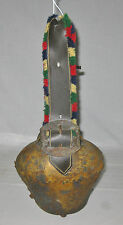 Antique Swiss Large Cow Bell- Nice Sound with strap ca. 1920