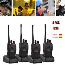 4PCS BF-888s Walkie Talkie Baofeng 1500mAh Radio Largo Alcance 2 Vías 16CH UHF