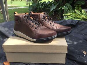 Clarks Ashcombemidgtx Dark Brown Leather 45 12 BNIB