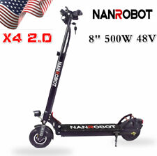 Nanrobot X4 2.0 Adult Electric Scooter Folding 48V 500W 8'' Tire 25Mph Us Ship