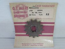 C.T. ALLOY FRONT SPROCKET 13 TOOTH FOR HONDA CA-CB-CL-CT-S-SL-TL-XL {B55}