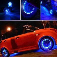 4PCS Blue Car LED Light Tire Cap Flash Light Tyre Wheel Air Valve Stem Lamp