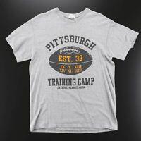 Vintage DELTA PRO American Football Grey Sports Short Sleeve T-Shirt Mens M