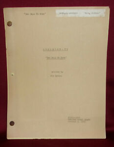 """GUNSMOKE """"Two Days To Noon"""" Revised Final Draft Television Script Actress Copy"""