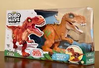 ROBO ALIVE - Attacking T-Rex Battery-Powered Robotic Toy (Orange)