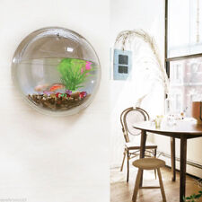 Mini Beta Goldfish Hanger Plant Acrylic Wall Mount Hanging Fish Bowl Aquarium