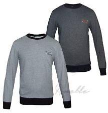 JACK & JONES New Men's Sweatshirt Ribbed Trim Long Sleeve Top Navy Grey BNWT