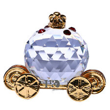 3D Crystal Paperweights Pumpkin Carriage Figurine Glass Wedding Collectible Gift