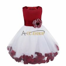 Flower Girl Dress Birthday Wedding Bridesmaid Formal Pageant Recital Kids Party