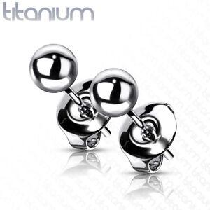 Pair **Implant Grade** 23 Titanium Ball Stud Earrings Grade 23 Small 3mm 4mm 5mm