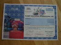 Hist. Wertpapier - PLANET HOLLYWOOD INTERNATIONAL INC. - 1998 - 1 Shares - Var.3